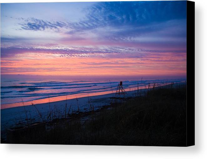 Sunrise Canvas Print featuring the photograph Beach Sunrise by Patrick Flynn