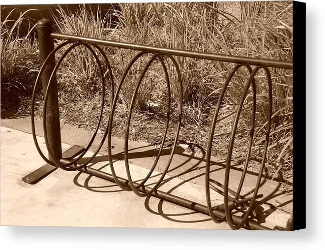 Bicycle Canvas Print featuring the photograph Bike Rack by Rob Hans