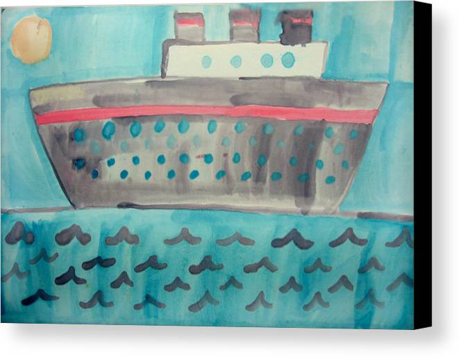 Boat Canvas Print featuring the painting Boat by Sean Cusack