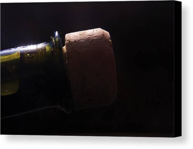 Bottle Canvas Print featuring the photograph bottle top and Cork by Steve Somerville