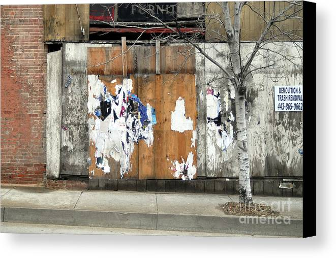 Brick Walls Canvas Print featuring the photograph Brick Wall 4 Of Four by Walter Oliver Neal