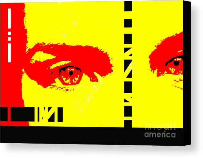 Eyes Canvas Print featuring the photograph Broken by Amanda Barcon