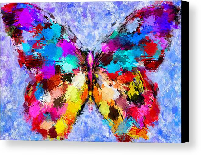 Butterfly Canvas Print featuring the digital art Butterfly 2 by Yury Malkov
