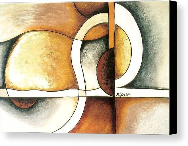 Contemporary Abstract Canvas Print featuring the painting Camino Encontrado by Marta Giraldo