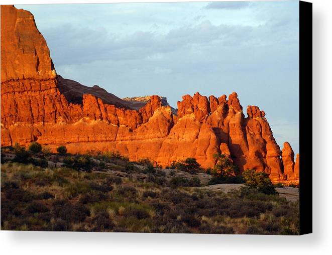 Utah Canvas Print featuring the photograph Canyonlands At Sunset by Marty Koch