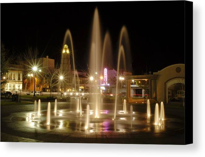 Landscape Canvas Print featuring the photograph Chico Plaza by Richard Verkuyl