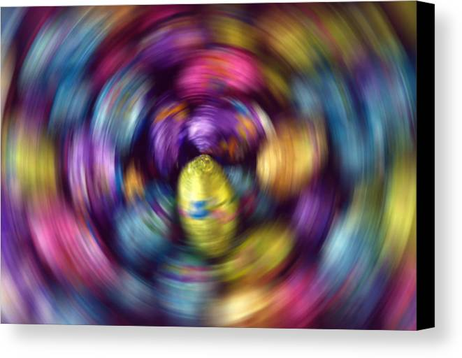 Easter Canvas Print featuring the photograph Chocolate Easter Eggs With Spin Effect by Steve Ohlsen