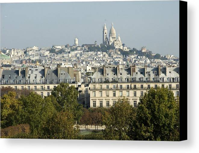 Paris Canvas Print featuring the photograph City Of Paris by Charles Ridgway