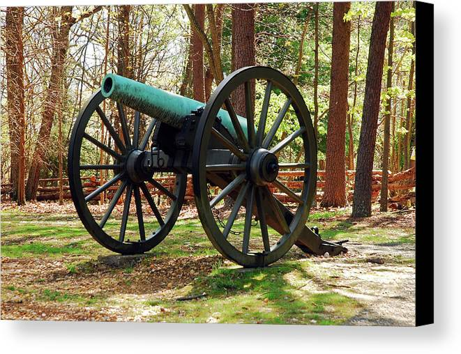 Fredericksburg Canvas Print featuring the photograph Civil War Cannon by James Kirkikis