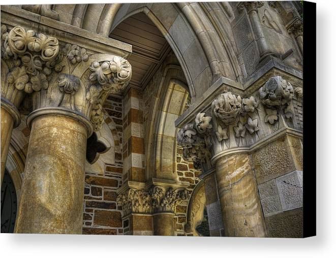 Church Canvas Print featuring the photograph Cloisters by Wayne Sherriff
