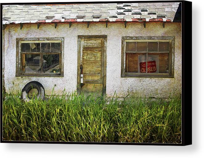 Buildings Canvas Print featuring the photograph Closed by John Anderson
