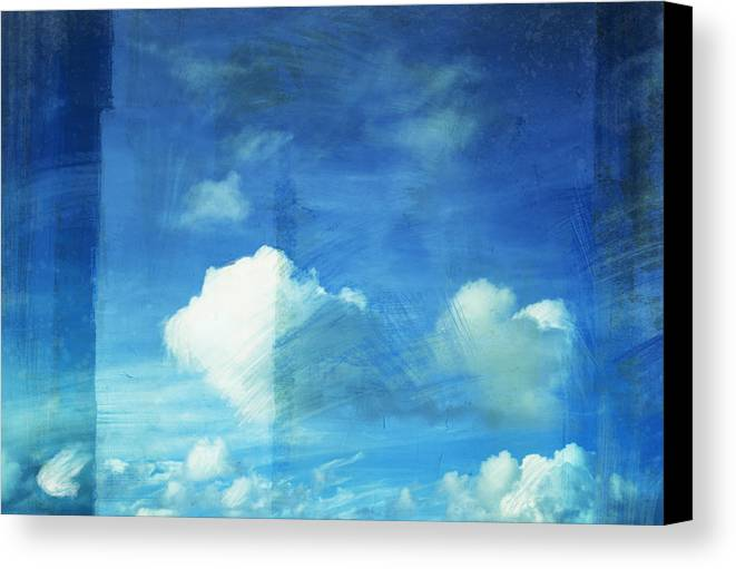 Abstract Canvas Print featuring the painting Cloud Painting by Setsiri Silapasuwanchai