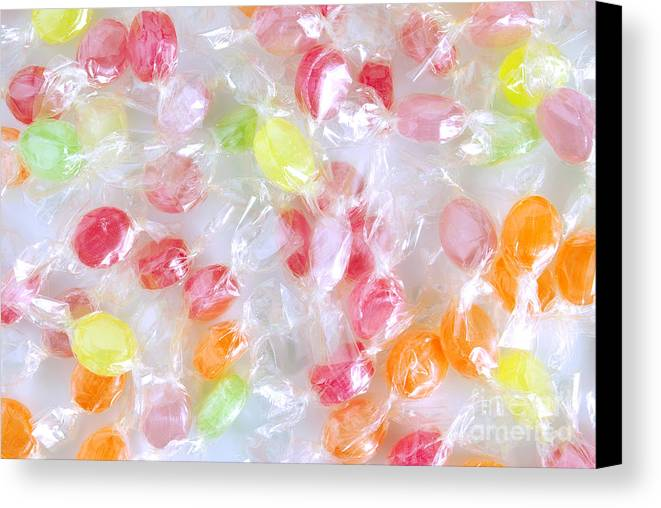 Assorted Canvas Print featuring the photograph Colorful Candies by Carlos Caetano