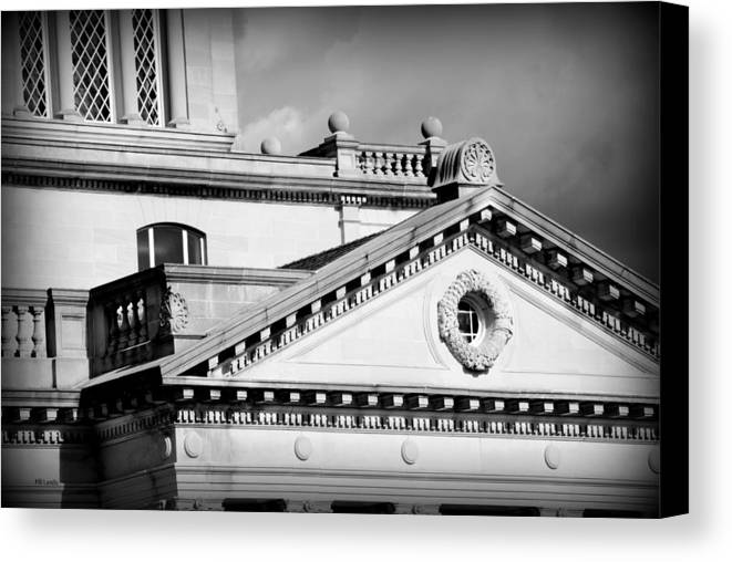 Architecture Canvas Print featuring the photograph Court In Session by Mary Beth Landis