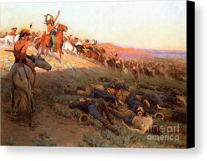 Custer S Last Stand Canvas Print Canvas Art By Richard