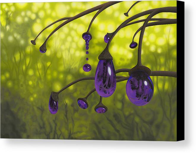 Tree Canvas Print featuring the painting Cyphomandra Vitra by Patricia Van Lubeck