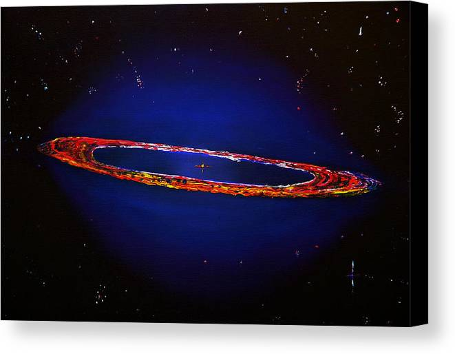 Space Canvas Print featuring the painting Deep Space Hubble by Gregory Allen Page