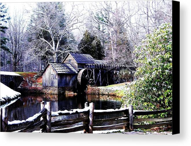 Mill Canvas Print featuring the photograph Digital Mill by Eric Liller