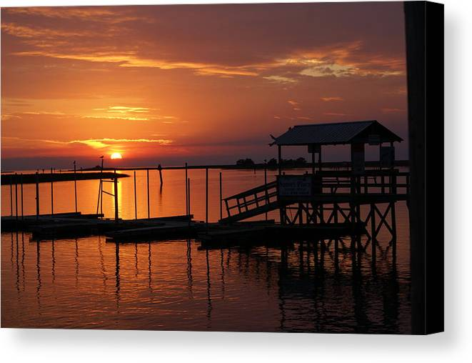 Dock Canvas Print featuring the photograph Dock Of The Bay by Debbie May