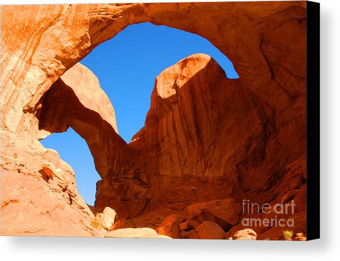 Arches Canvas Print featuring the photograph Double Arch by Dennis Hammer