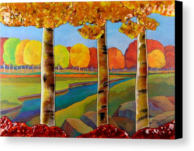 Trees Canvas Print featuring the mixed media Edge Of The Woods by Anne Nye