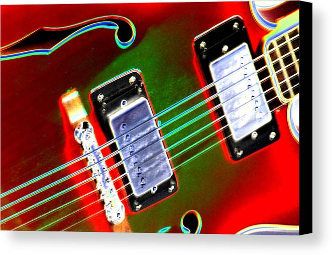Guitar Canvas Print featuring the digital art Electric Guitar by Peter McIntosh