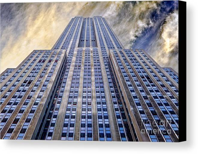 Empire State Building Canvas Print featuring the photograph Empire State Building by John Farnan