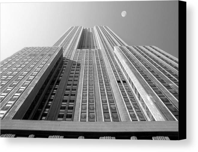 Empire State Building Canvas Print featuring the photograph Empire State Building by Mike McGlothlen