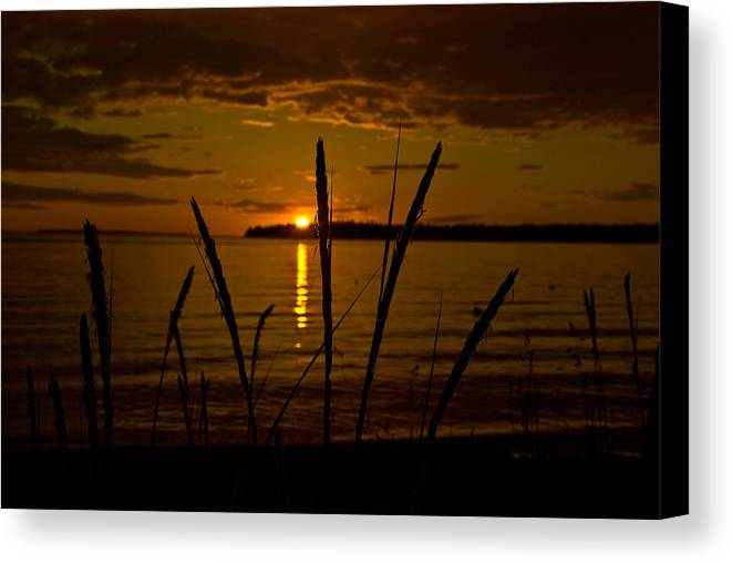 Canvas Print featuring the photograph End Of A Good Day by JK Photography