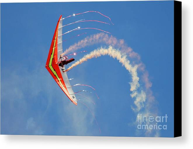 Sky Canvas Print featuring the photograph Fantasy Flight by Larry Keahey