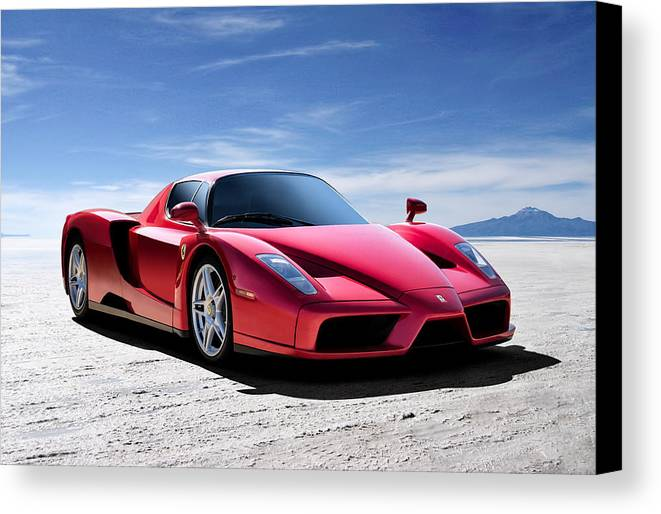 Italian Canvas Print featuring the digital art Ferrari Enzo by Douglas Pittman