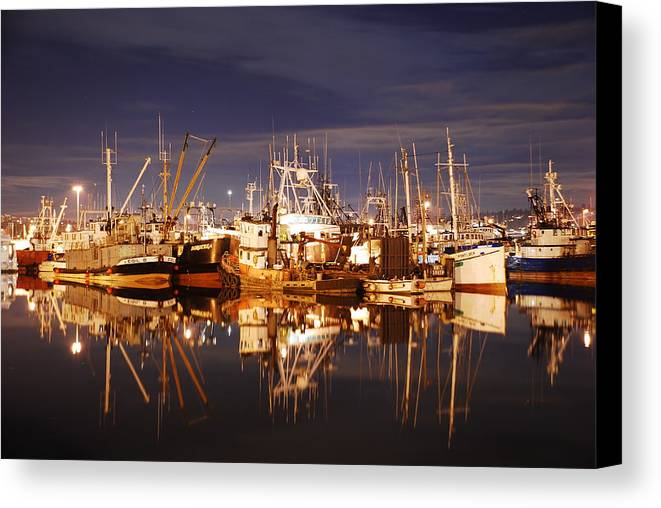 Fishing Canvas Print featuring the photograph Fishermans Terminal by Alasdair Turner