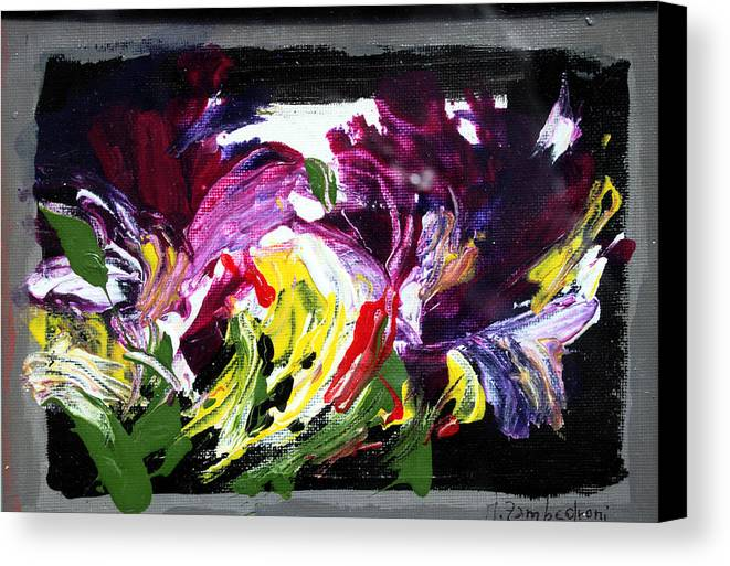 Abstract Canvas Print featuring the painting Floral Flow by Mario Zampedroni