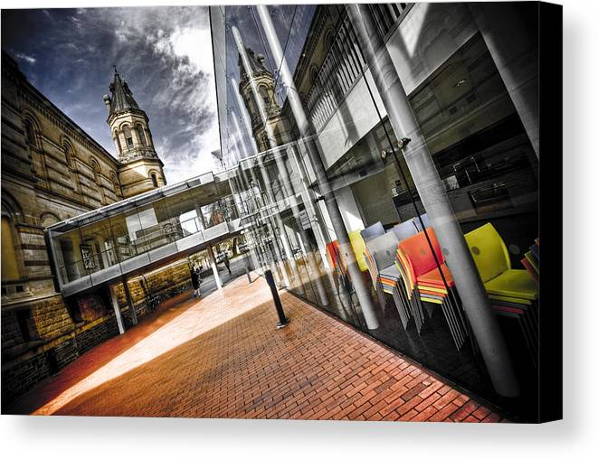 Flyover Canvas Print featuring the photograph Flyover by Wayne Sherriff