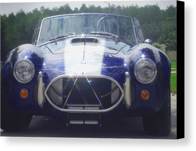 Speed Canvas Print featuring the photograph Ford Cobra by Margaret Fortunato