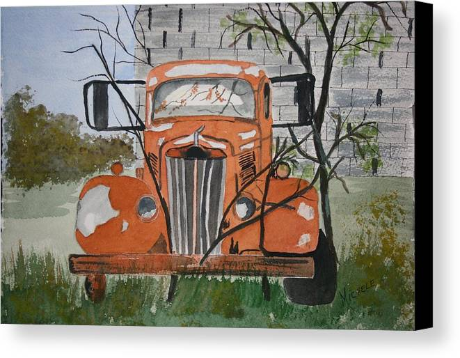 Truck Canvas Print featuring the painting Forgotten by Michele Turney