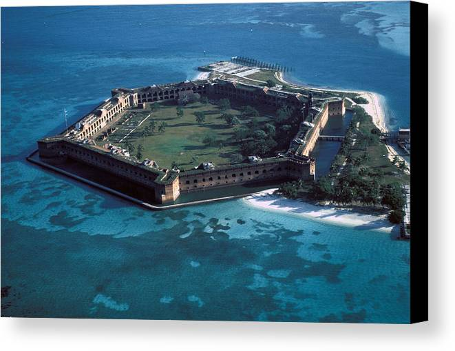Fort Canvas Print featuring the photograph Fort Jefferson by Carl Purcell