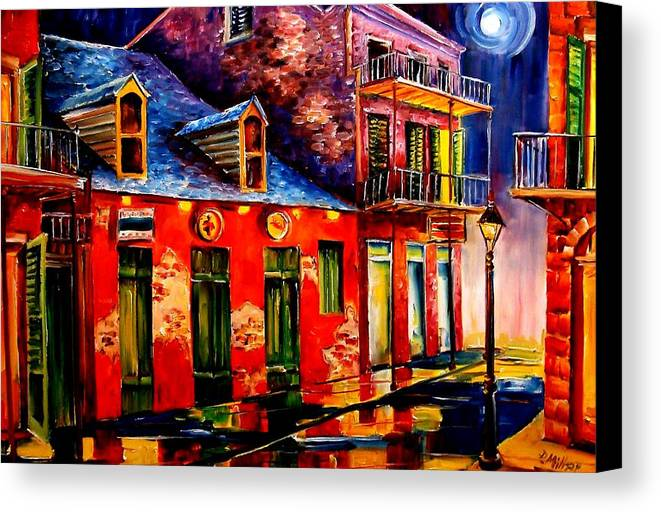New Orleans Canvas Print featuring the painting French Quarter Dazzle by Diane Millsap