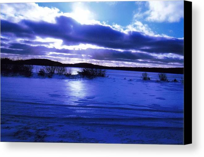 Landscape Canvas Print featuring the photograph Frozen In Time by Sharon Stacey