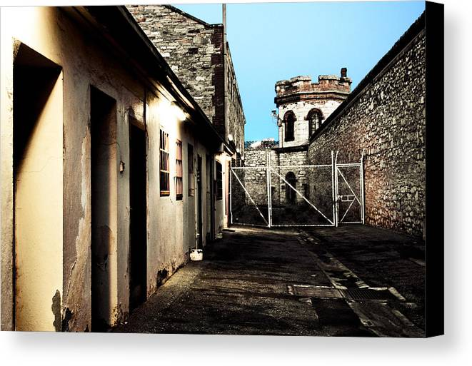 Old Canvas Print featuring the photograph Gaol by Kelly Jade King