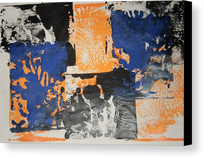Abstract Canvas Print featuring the painting Gargoles In The Shadows by Edward Wolverton