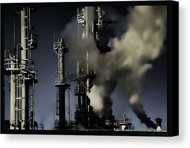Industrial Canvas Print featuring the photograph Going Green by Sheri Bartoszek