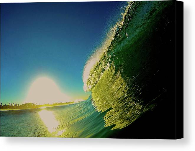 Surf Canvas Print featuring the photograph Golden Sunrise by Martin Wolfe