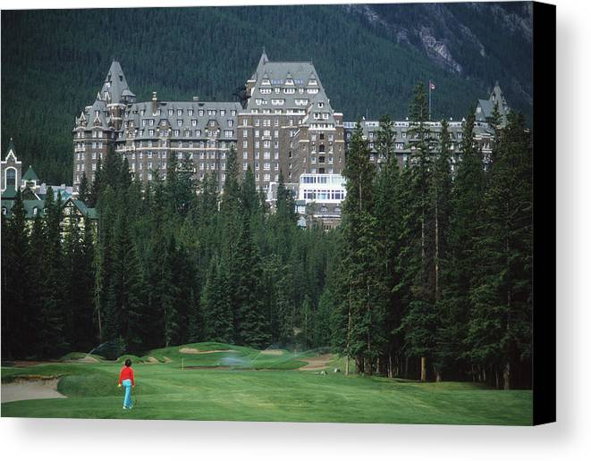 Grand Canvas Print featuring the photograph Golfer Heaven In Banff by Carl Purcell