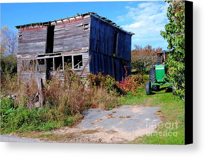 Litchfield County Canvas Print featuring the photograph Green Tractor by Andrea Simon