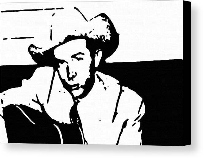 Musicians Canvas Print featuring the painting Hank Williams by Jeff DOttavio