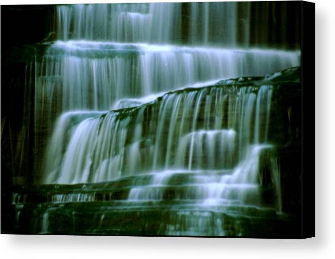Waterfall Canvas Print featuring the photograph Hector Falls -detail by Roger Soule