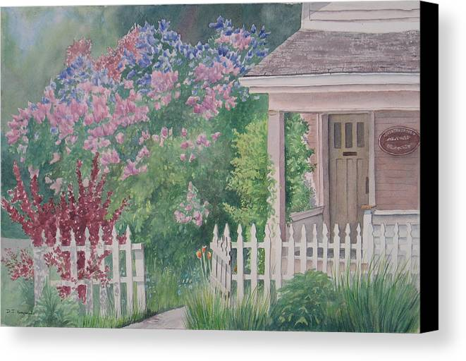 Heritage Canvas Print featuring the painting Heritage House by Debbie Homewood