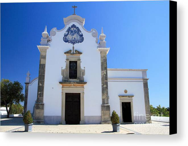 Algarve Canvas Print featuring the photograph Igreja De Sao Lourenco Dos Matos by Carl Whitfield