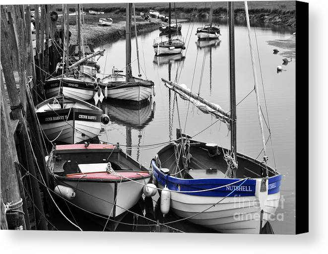 Boats Canvas Print featuring the photograph In A Nutshell by Jon Clifton